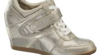 Kadın dolgu topuk spor ayakkabı