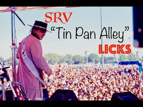 STEVIE RAY VAUGHAN ~ TIN PAN ALLEY ~ SLOW BLUES LICK LESSON
