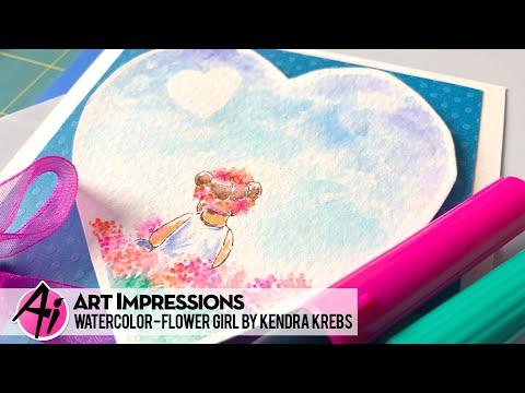 Ai Watercolor - Flower Girl by Kendra Krebs