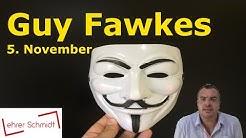 Guy Fawkes - 5. November - Anonymous | Allgemeinwissen | Lehrerschmidt