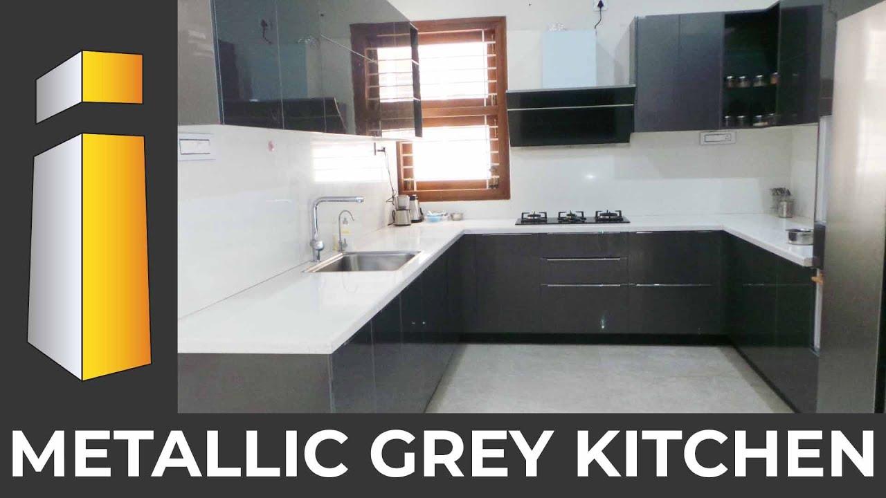 Simple Modular Kitchen Designs Metallic Grey Small Kitchen Design Ideas I Build Interiors Youtube