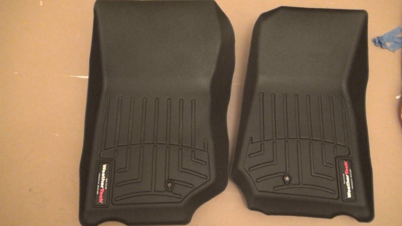 Weathertech floor mats jk - Jeep Wrangler Jk Weather Tech Floor Liners Almost New