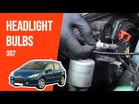 How to replace the headlight bulbs PEUGEOT 307 💡
