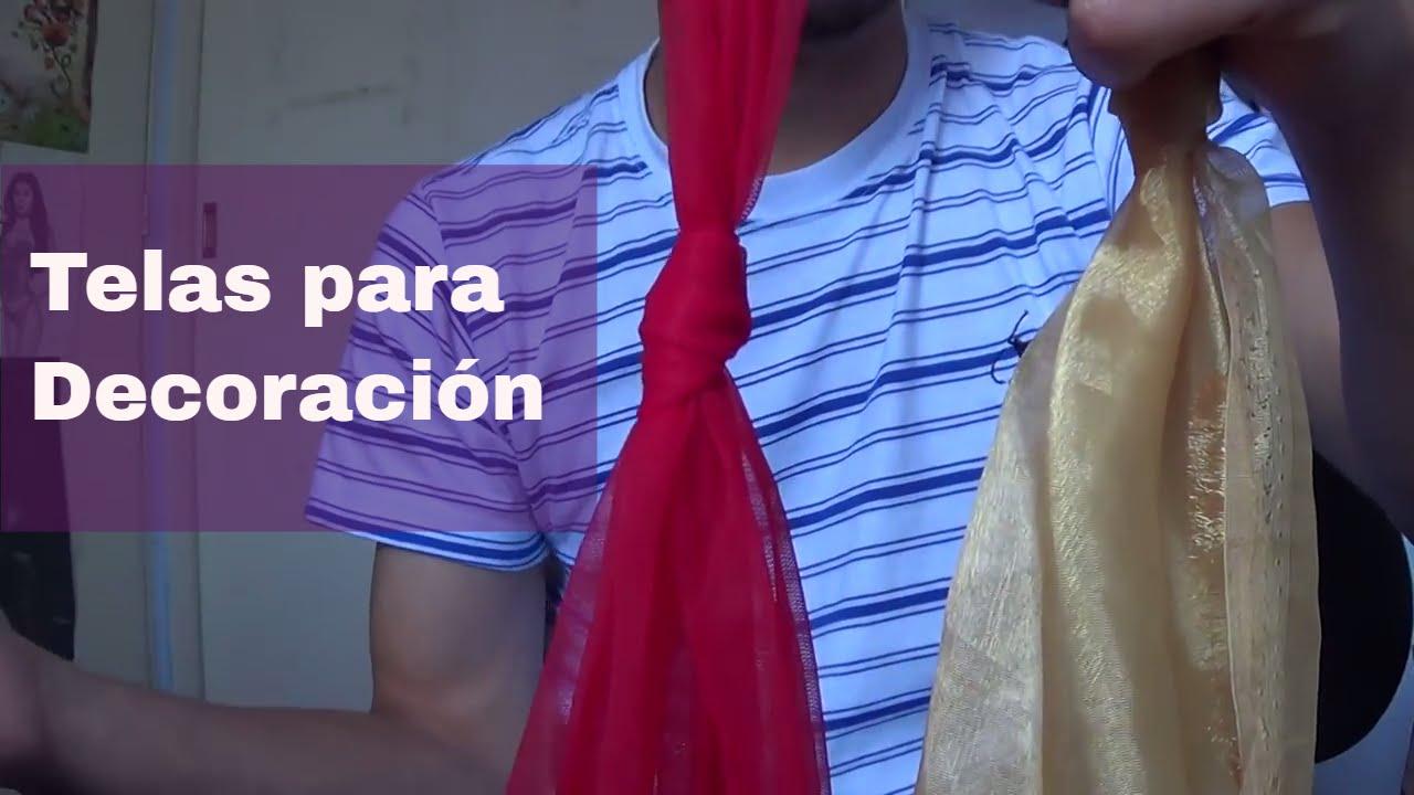 Decoraci n con telas youtube for Decoracion con telas