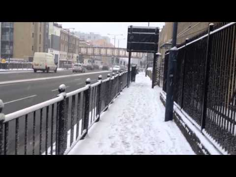 Snowfall in London (comercial road - east london)