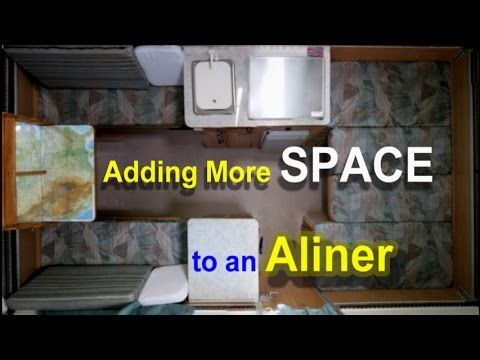 A Liner Camper >> Adding More Space to an Aliner Trailer - YouTube