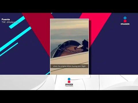Turbina explota en medio vuelo | Noticias con Yuriria Sierra