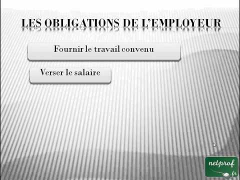 Droit : Le contrat de travail