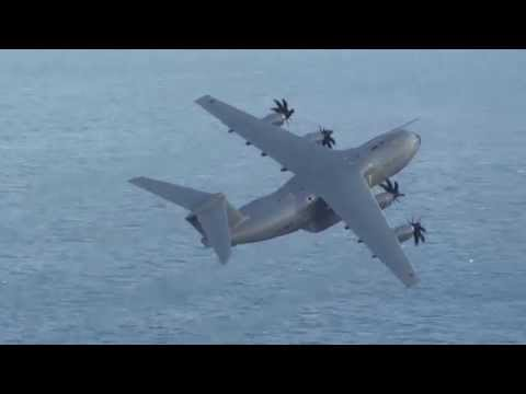 Royal Air Force (RAF) Airbus A400M Atlas (ZM400) Fly Past at Gibraltar LXGB