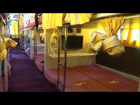 Showcasing Magnificient Interiors & Exteriors Of Sleeper & Semi Sleeper Volvo Bus Of VRL Travels !!