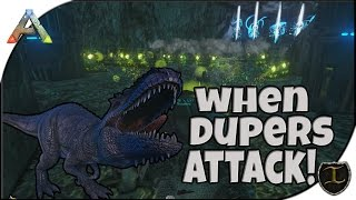 Ark PS4 Pro PVP || Insane Base Defense || when Dupers Attack! Duped giga's and TEK!
