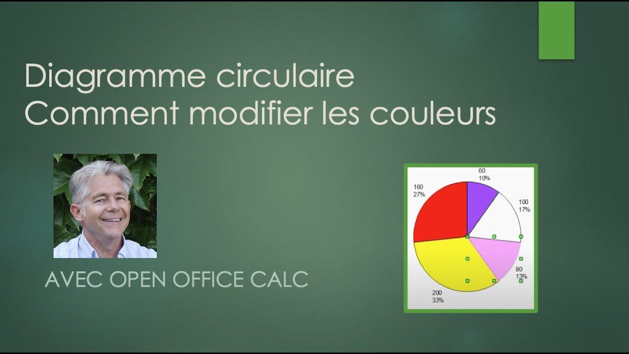 Modifier les couleurs d 39 un diagramme circulaire youtube - Comment faire un tableau sur open office calc ...