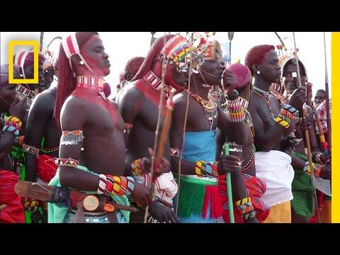 Samburu Warriors Drink Blood in Graduation Ceremony | National Geographic