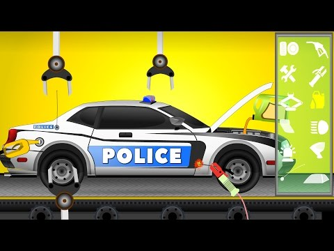 Police Car Repair | Car Garage | Video for Kids | Police Cars Cartoon for Children