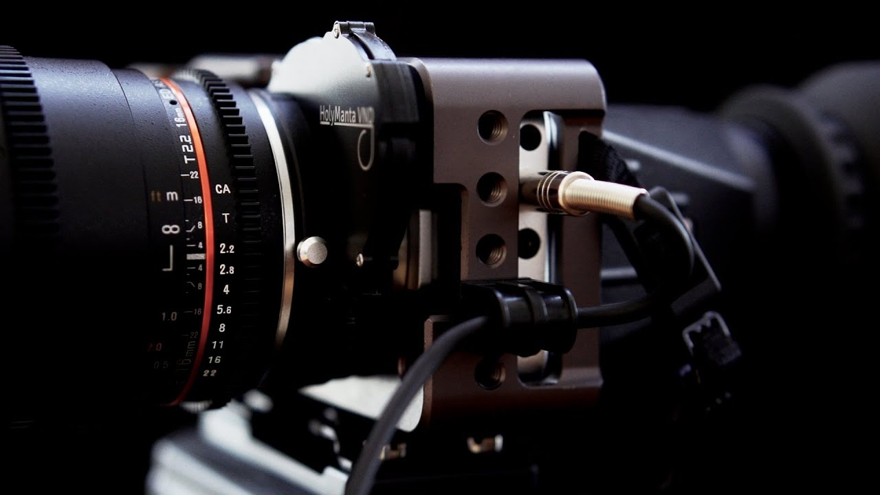 Rigging The Blackmagic Pocket Cinema Camera HolyManta Rapid ND Contineo Z Finder Rokinon