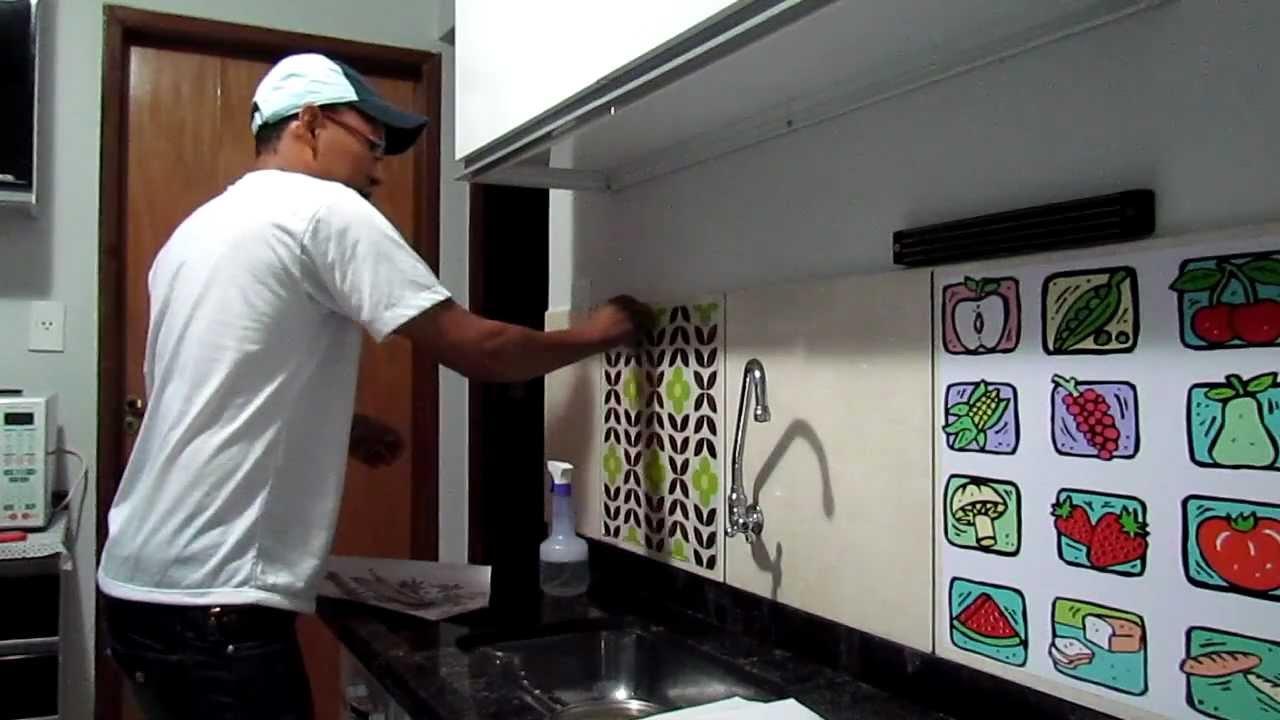 Adesivo Geladeira Personalizada ~ Adesivo para azulejo e ceramica YouTube