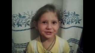 Девочка Вероника 3 годика рассказывает стих про кошку
