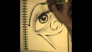 Horus eye Antonio sav 3d drawing