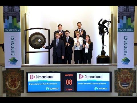 Dimensional Fund Advisors brengt bezoek aan Euronext