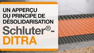 Les principes de désolidarisation de la membrane Schluter®-DITRA.