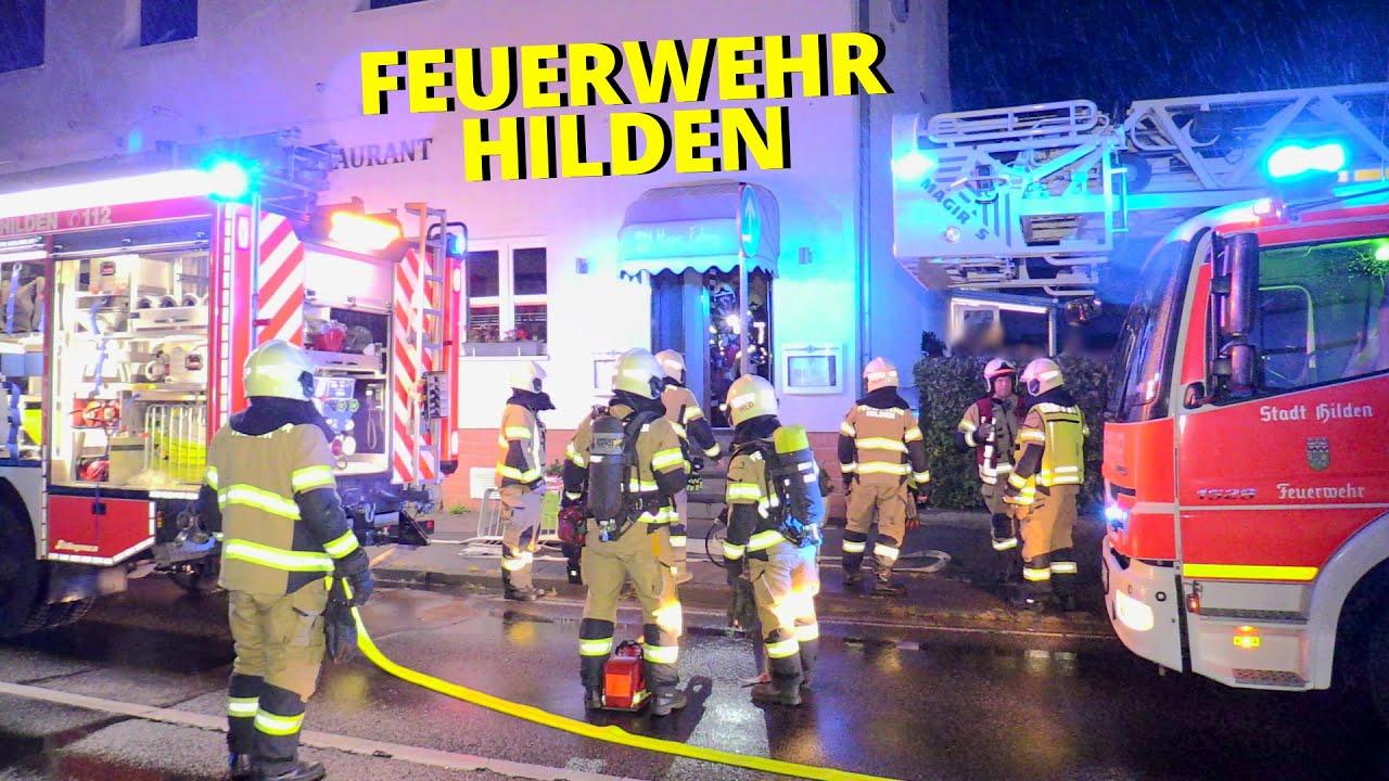 [FEUERWEHR HILDEN] - Sicherungskasten brannte in einem Hotel mit angrenzendem Restaurant -