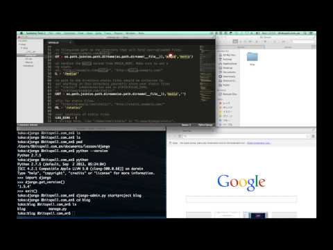 creating a project - First simple Blog with django -