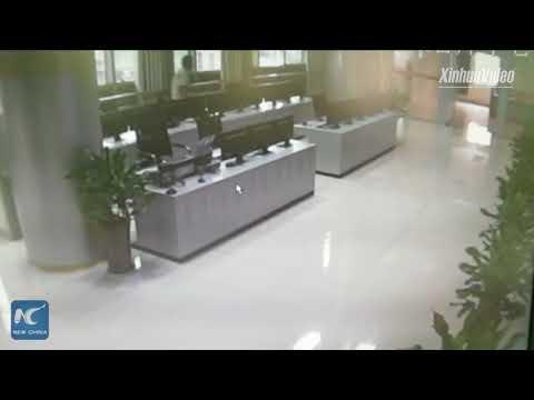 CCTV captures moment 5.4-magnitude earthquake hits SW China
