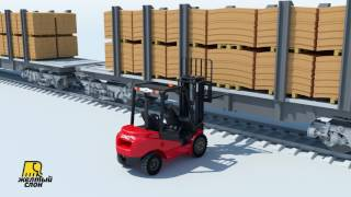 forklift JAC CPСD30 Official video / Автопогрузчик погрузчик JAC CPСD30