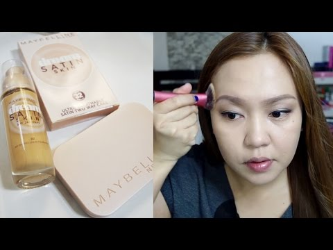 Maybelline Dream Satin Skin Foundation and Two Way Cake Review!