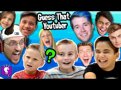 Guess That YouTuber Challenge with HobbyKidsTV