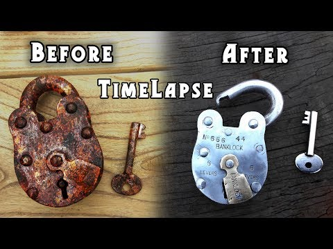 Antique Vintage PadLock Restoration