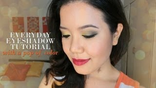 Everyday Eyeshadow Tutorial with a Pop of Color Thumbnail