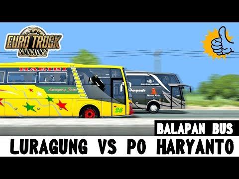 DRAG RACE !!! Gara-gara Ngejar Haryanto, Luragung Mogok Kehabisan Solar - ETS2 Mod Indonesia - 동영상