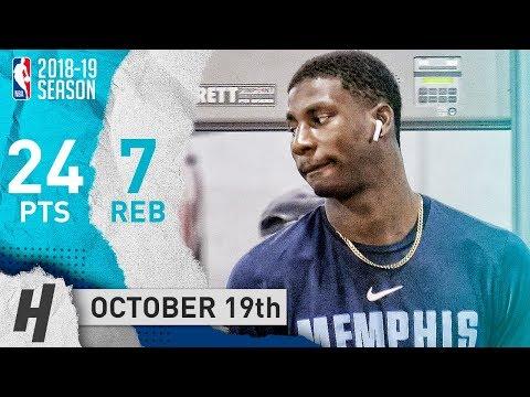 Jaren Jackson Jr. Full Highlights Grizzlies vs Hawks 2018.10.19 - 24 Pts, 7 Reb, SICK