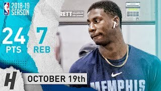 Jaren Jackson Jr. Full Highlights Grizzlies vs Hawks 2018.10.19 - 24 Pts, 7 Reb, SICK