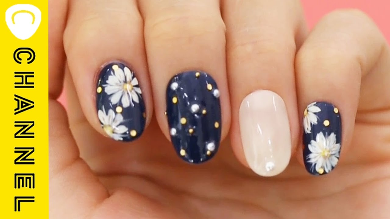 春の花柄はコレ♪マーガレットネイル