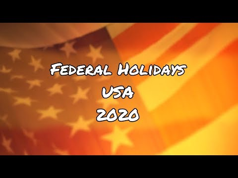 Federal Holidays In The USA For 2020
