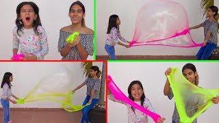 Hicimos Burbujas Gigantes de SLIME Neon !!!