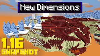 They just added New Dimensions to Minecraft (1.16 Snapshot Update 20w21a)