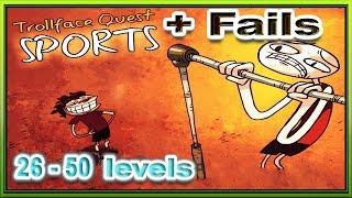 Троллфейс прохождение и фэйлы. 26-50 уровни Как пройти Troll face Quest Sports walkthrouth and fails