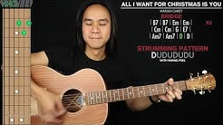 All I Want For Christmas Is You Guitar Cover Mariah Carey 🎸|Tabs + Chords|