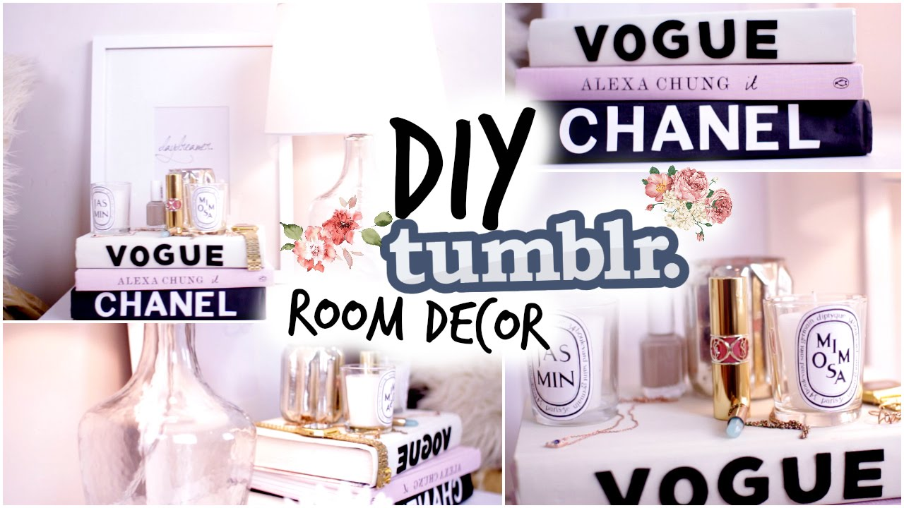 Fall DIY Tumblr Room Decor! Cozy Fall Nightstand! - YouTube
