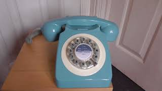 Wild And Wolf French Blue 746 Telephone (Replica GPO 746)