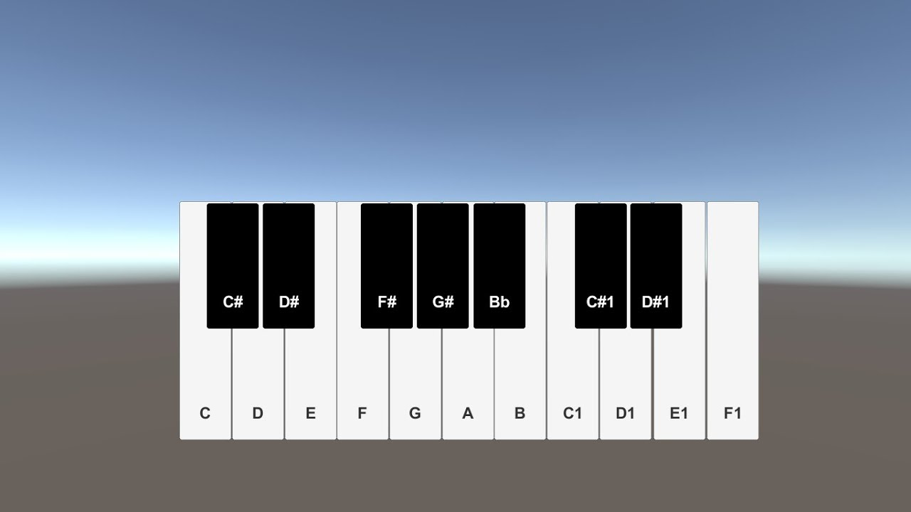 How to Create a Piano in Unity 3D
