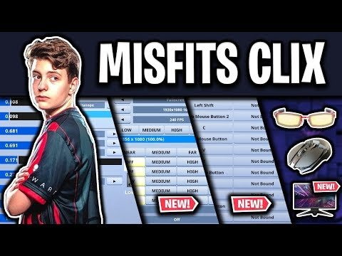 MSF Clix's NEW Fortnite Settings, Keybinds And Setup (UPDATED SEASON 9)