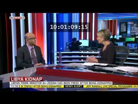 Olivier Guitta speaks to Sky News about the kidnapping of Ali Zeidan