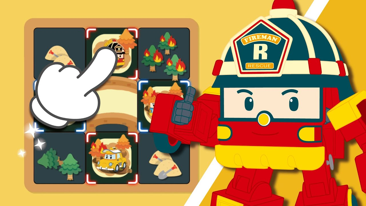 ロボカーポリーラインパズルゲーム│3話 ロイ│Robocar POLI: Line Puzzle Fun│子供向けゲーム│ロボカーポリー テレビ