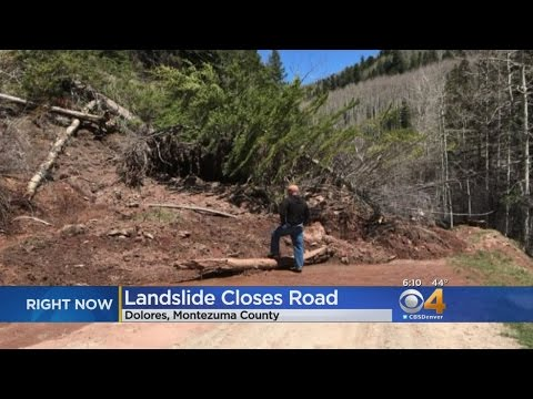 Road Closed In Montezuma County Because Of Landslide