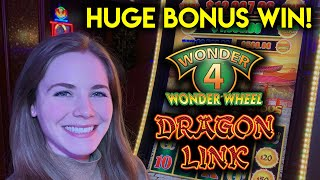 BIG WIN! Dragon Link Happy And Prosperous Slot Machine! BONUS In The Free Spins!!