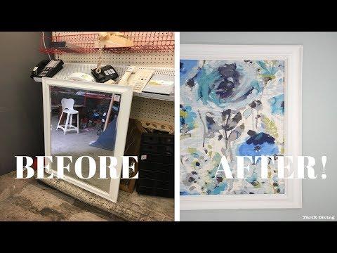 Framed Fabric Wall Art Using a Picture Frame: DIY Wall Art - Thrift Diving